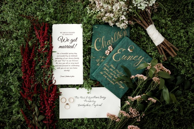 elopement inivtation suite
