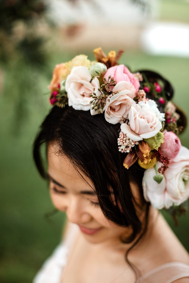bride flower crown