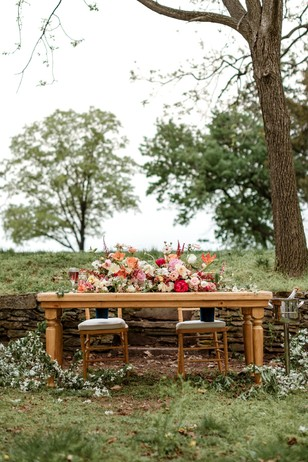 wedding sweetheart table design