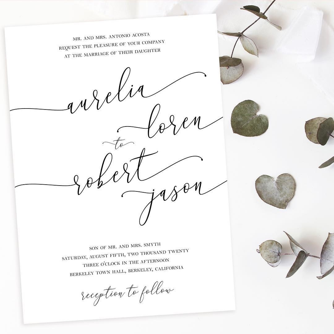 Simple & modern with a touch of romance. #modernwedding