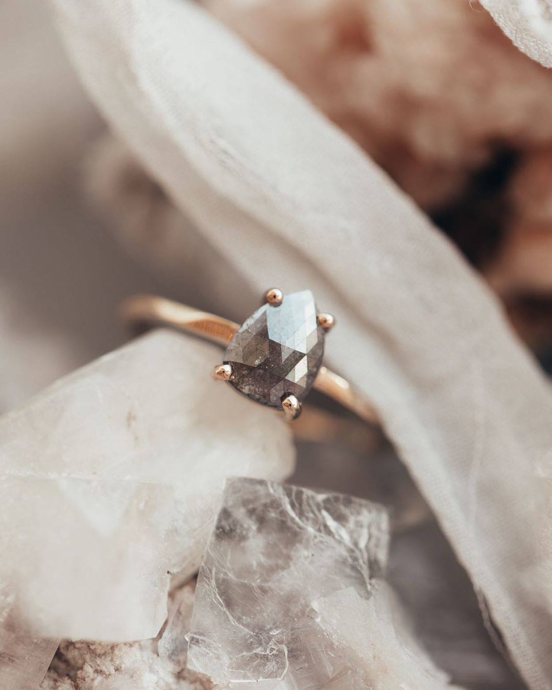 One of our current shop favorites, this prong set smokey rough diamond has stolen our hearts. Double tap if you love this ring as much