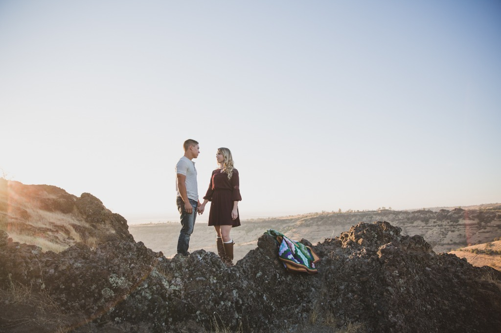 Grand views for days! This engagement session took place on a cliff overlooking the Butte Canyon.