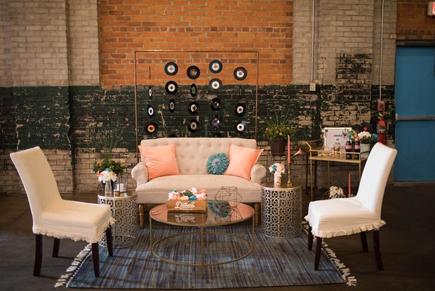 retro modern wedding lounge