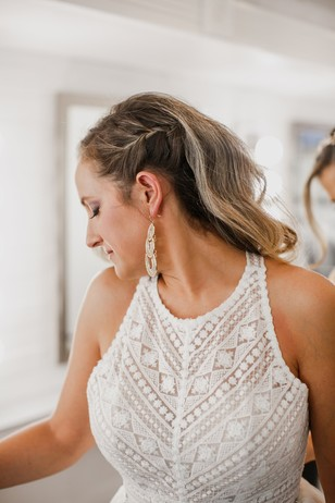 half up braided hair style