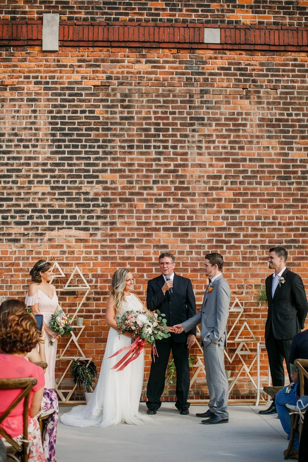 modern wedding ceremony backdrop