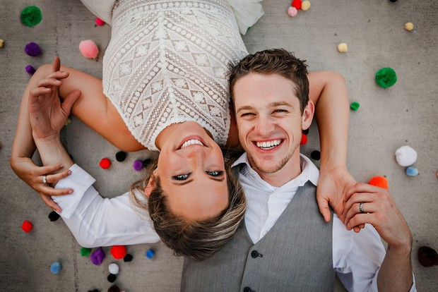 sweet couple wedding portrait