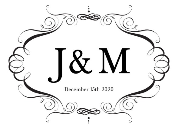 Elegant Monogram Wedding Invite