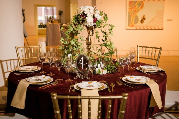 Wedding reception table design