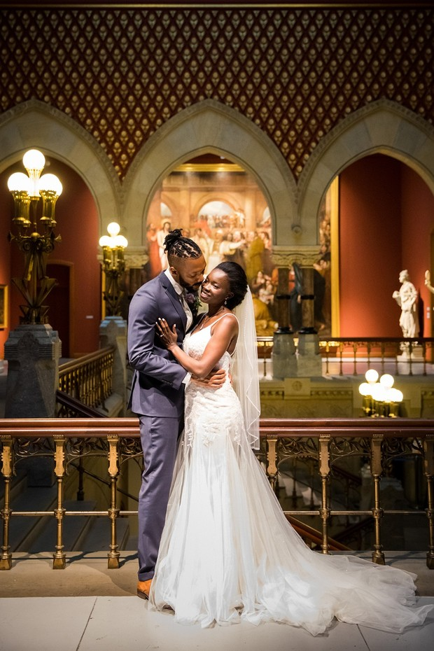 Romantic museum wedding