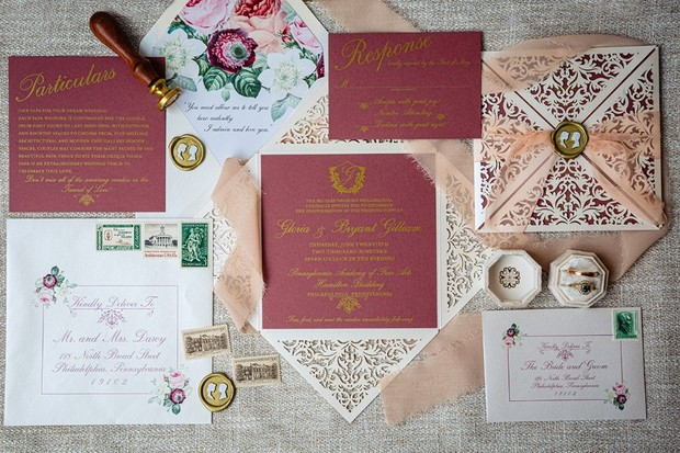 classic chic wedding invites
