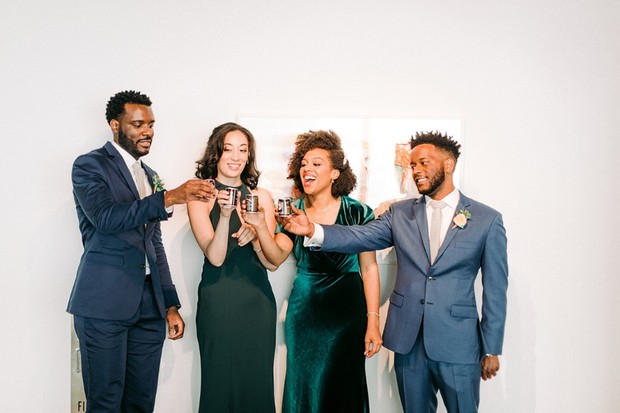 bridesmaid and groomsmen toast