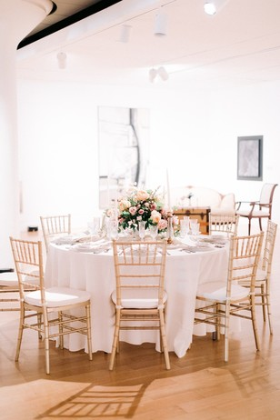 chic wedding reception table