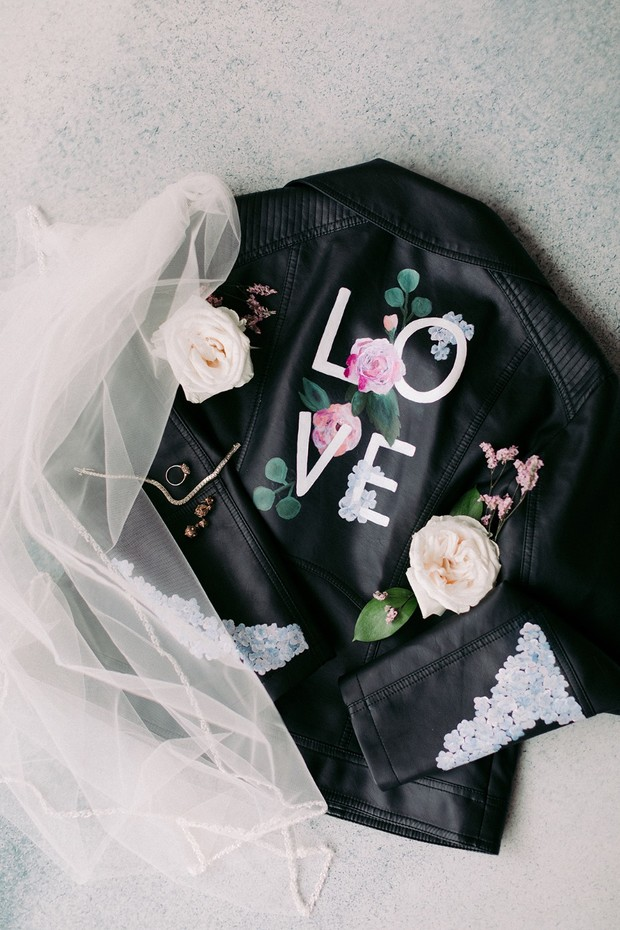 Custom wedding jacket