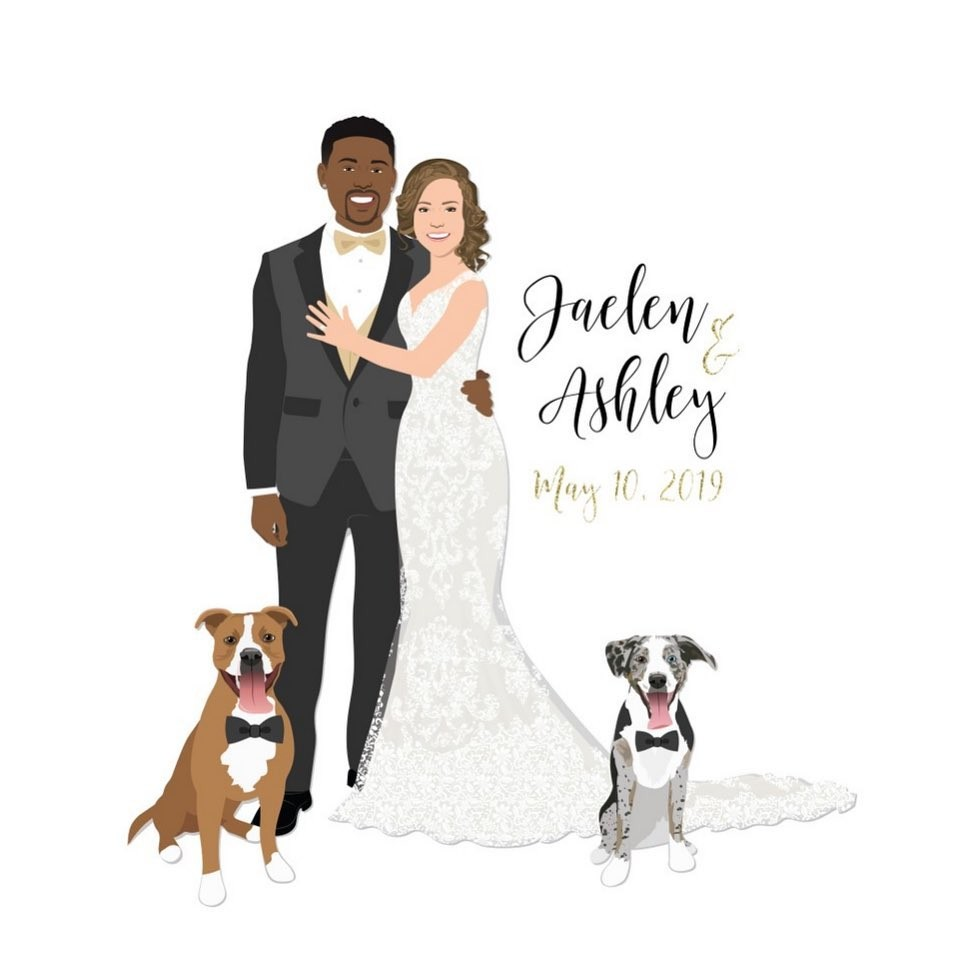 Beautiful dress, beautiful couple, beautiful pups? These two had it ALL on their wedding day! We can't get over these two dapper doggos