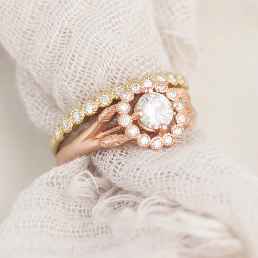 Rose gold has become a major favorite over the past few years & some say it's one of the most romantic due to its pink/rose hue