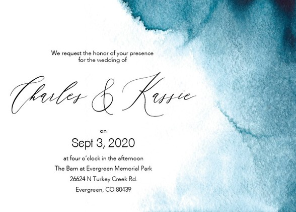 Blue Ombre Wedding Invitations