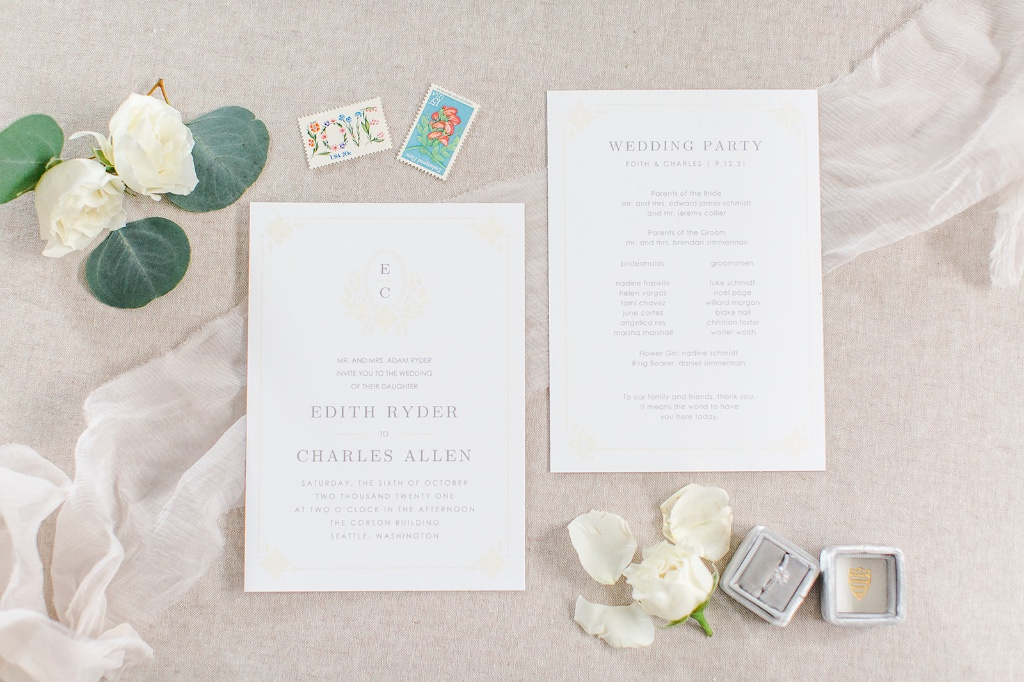 Our MaeMae's Charles Wedding Invitations are a perfectly unique way to announce the special day. Created by our talented guest designer