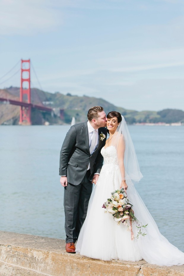 Winter Wedding On The Water By The Golden Gate Bridge