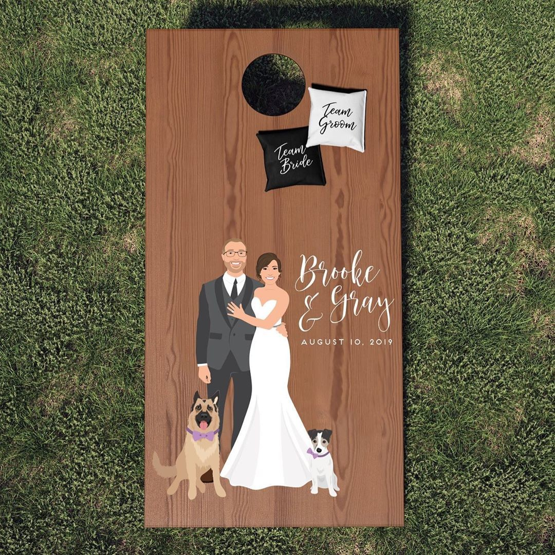 Because your wedding should be a party, and parties should have games right?? This is perfect for any outdoor wedding, especially when