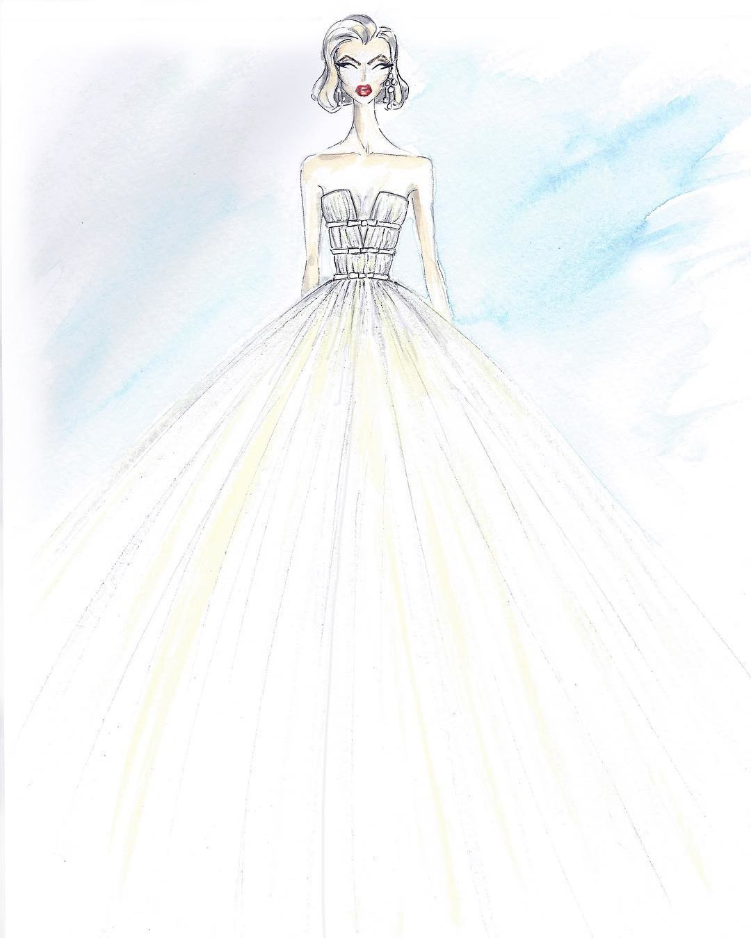 From sketch to dress, can you name which Bespoke gown this? ✨