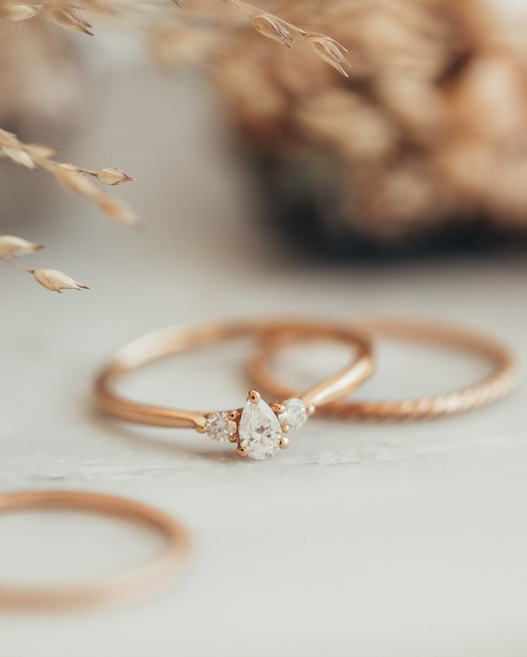We love this delicate rose gold stack! #Sarahojewelry