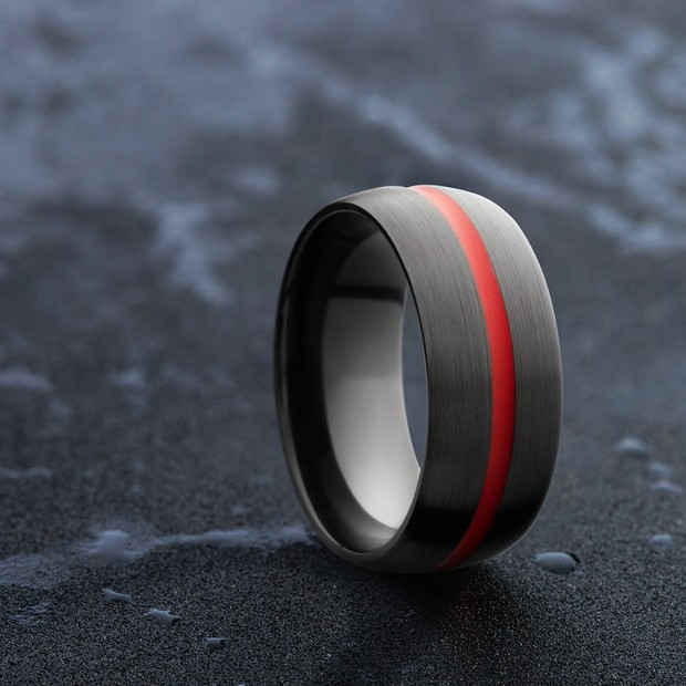 How to Add Some Color to Your Guy's Wedding Band