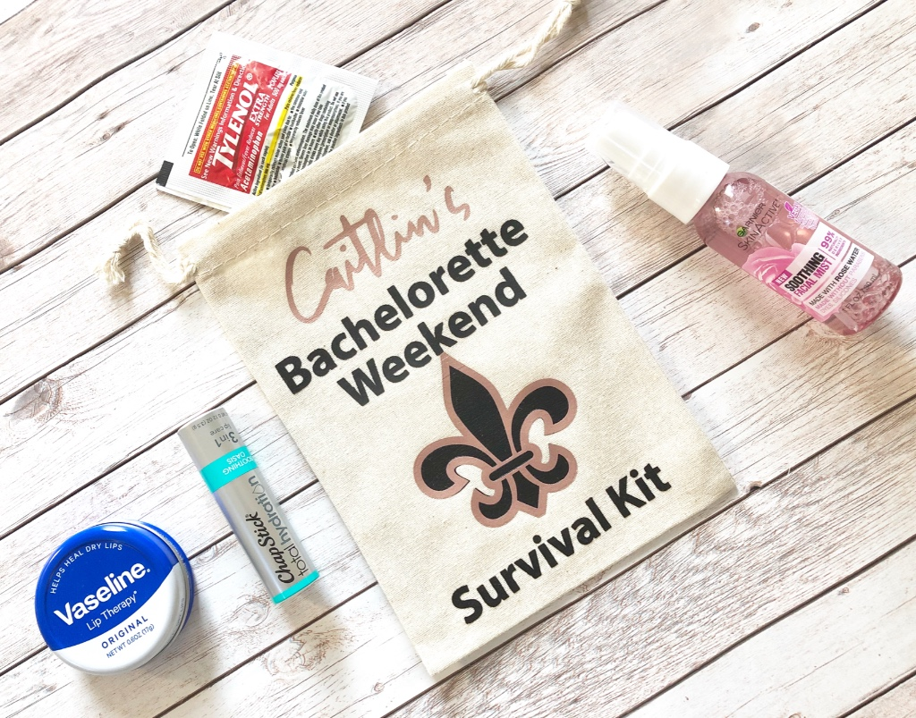 Your bachelorette party would not be complete without cute gifts! Our favor bags are customized to your liking, making them perfect