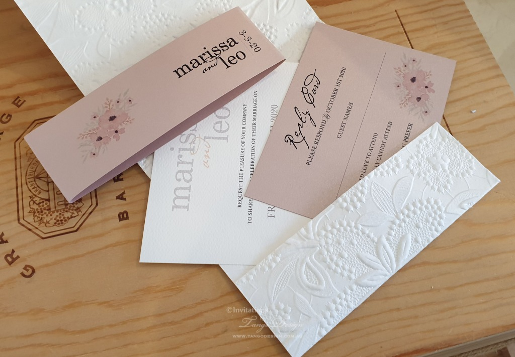 Romantic pocket handmade with custom paper with 100's of patterns (embossed, glitter, vellum or plain shimmer card)