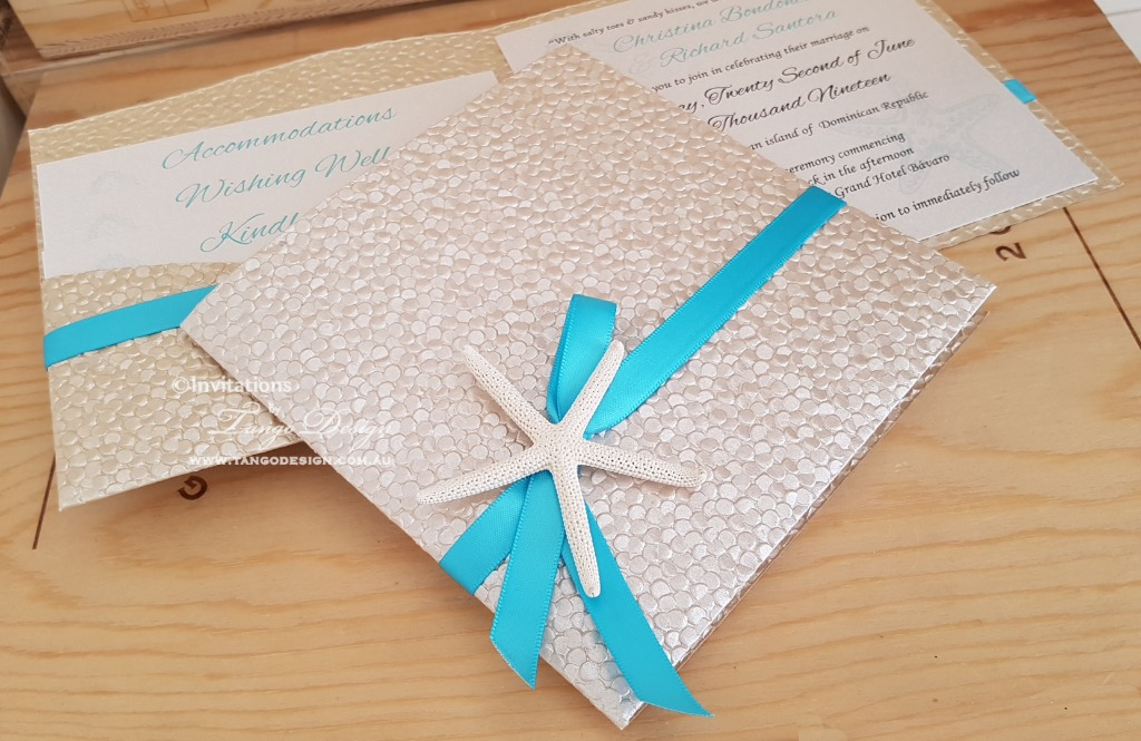 beach wedding invitation set Luxury elegance and practicality in the one set.