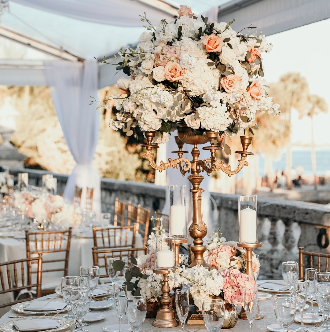 Day time shot gorgeous floral design by @petalprod From our @vizcaya_museum wedding. Can't get enough from all the beautiful captures