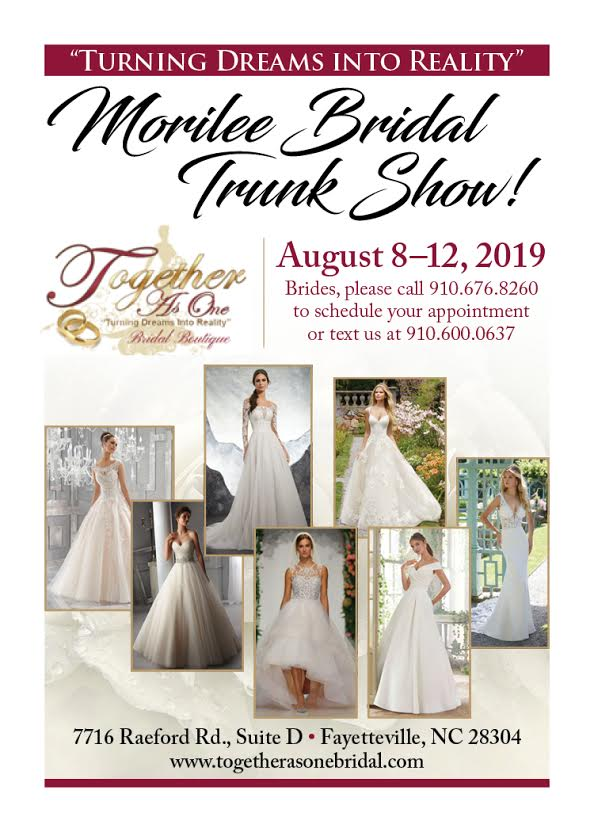 Together As One Bridal Boutique will host a Morilee Bridal Trunk Show. What is a Bridal Trunk Show?