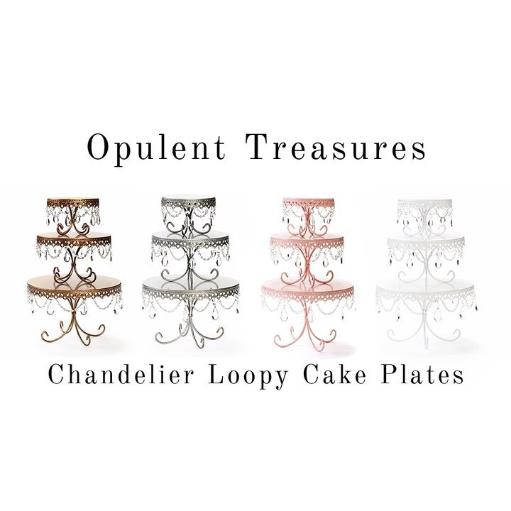 Opulent Treasures Chandelier Loopy Cake Plates (set of 3)