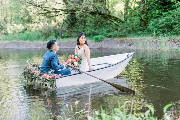 wedding row boat