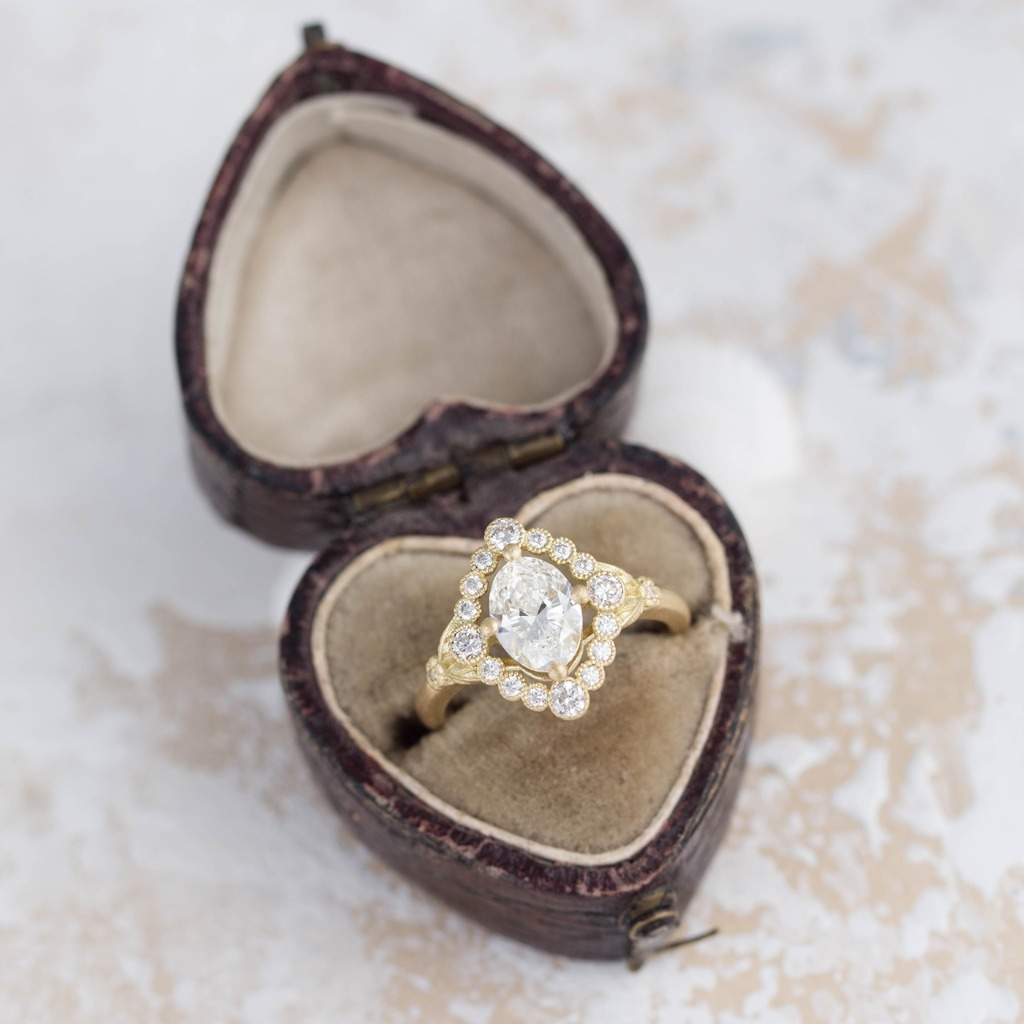 This is definitely a ring I would be dropping hints to my loved one over! Do you agree? Pictured is our Dahlilah Oval Halo Ring in