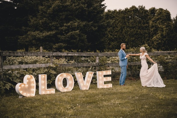 "wedding ""love"" marquee sign"