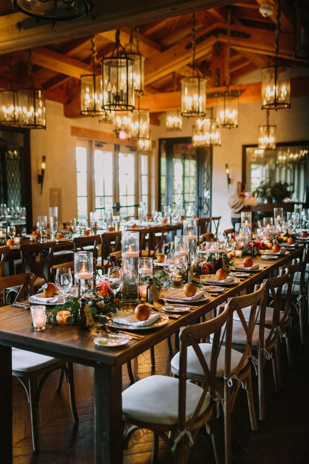 elegant and intimate family style reception