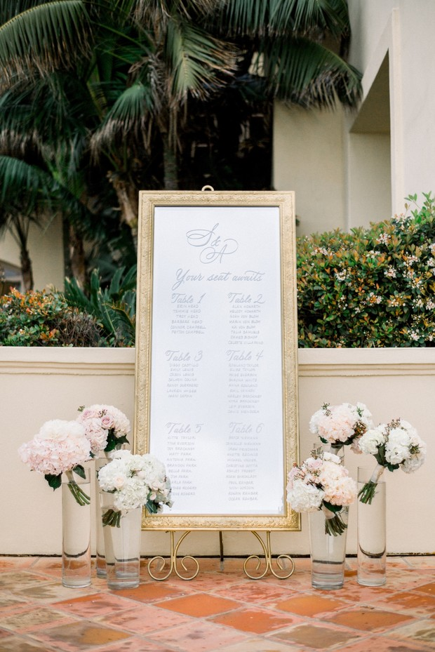 mirror wedding seating assignment