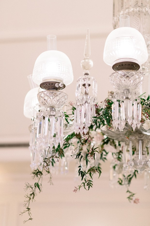 floral accented chandelier