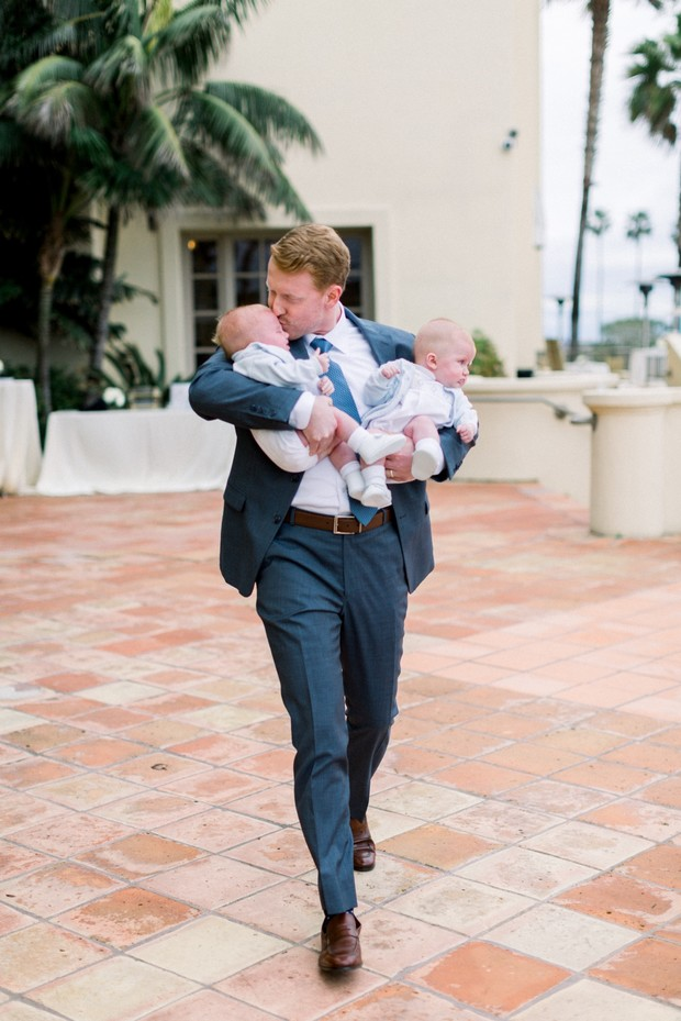 here come the cute little ring bearers