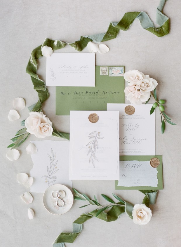 tuscan inspired wedding invitation suite