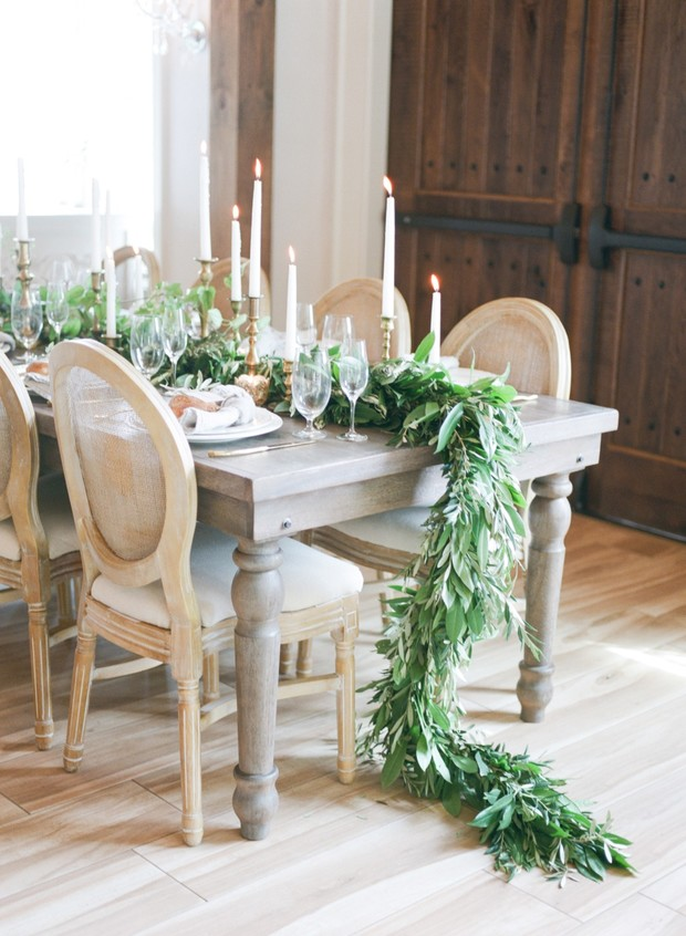 greenery table garland