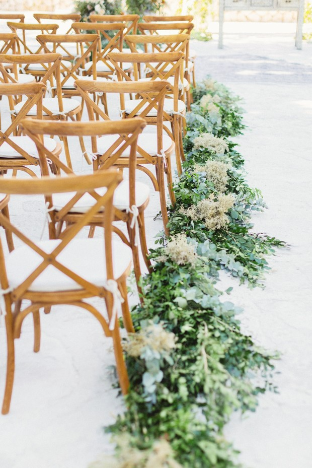 wedding ceremony greenery