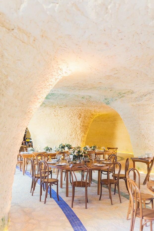 cave wedding reception in Mexico