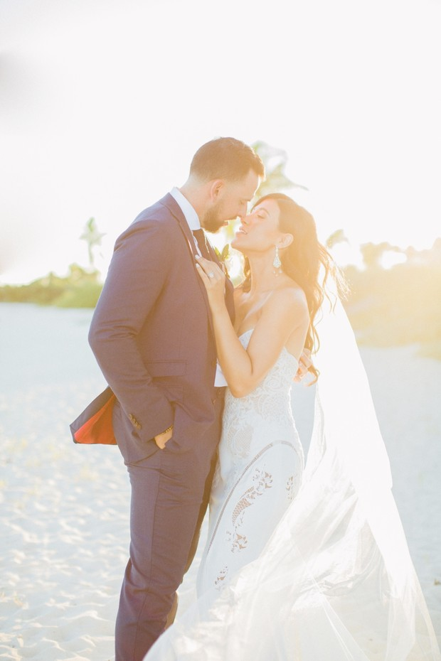 Beach wedding photo in Mexico