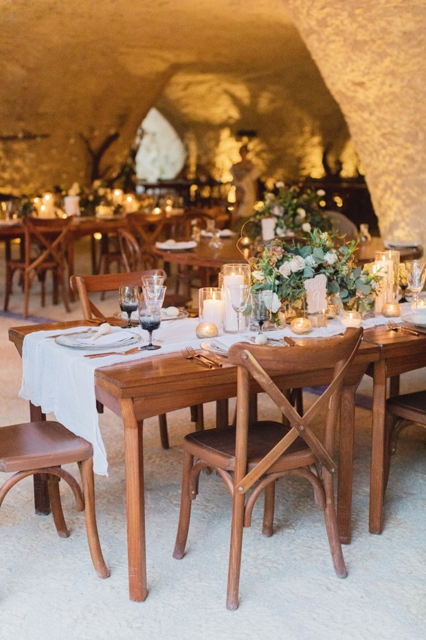 Romantic wedding reception in Mexico