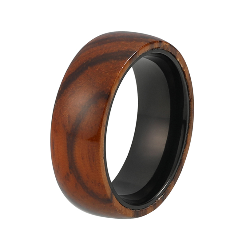 This mens Wood Wedding Ring is one of our best sellers for a reason. Crafted from black tungsten, one of the hardest and most resilient