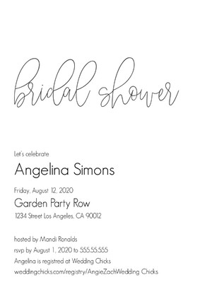 Simply Modern Bridal Shower
