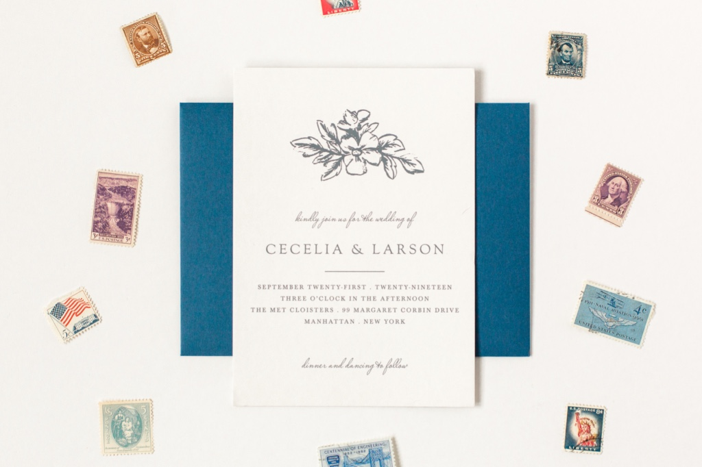 Our Soft Morning Wedding Invitation Suite is simple yet elegant. Perfect for a vintage or rustic wedding!
