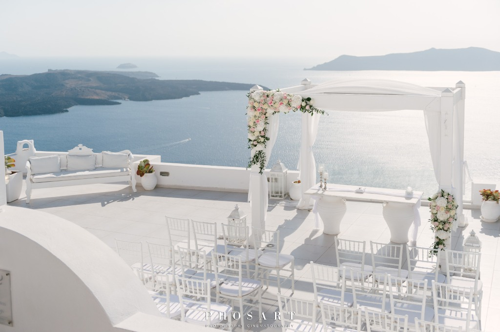 Wedding Day in Santorini!