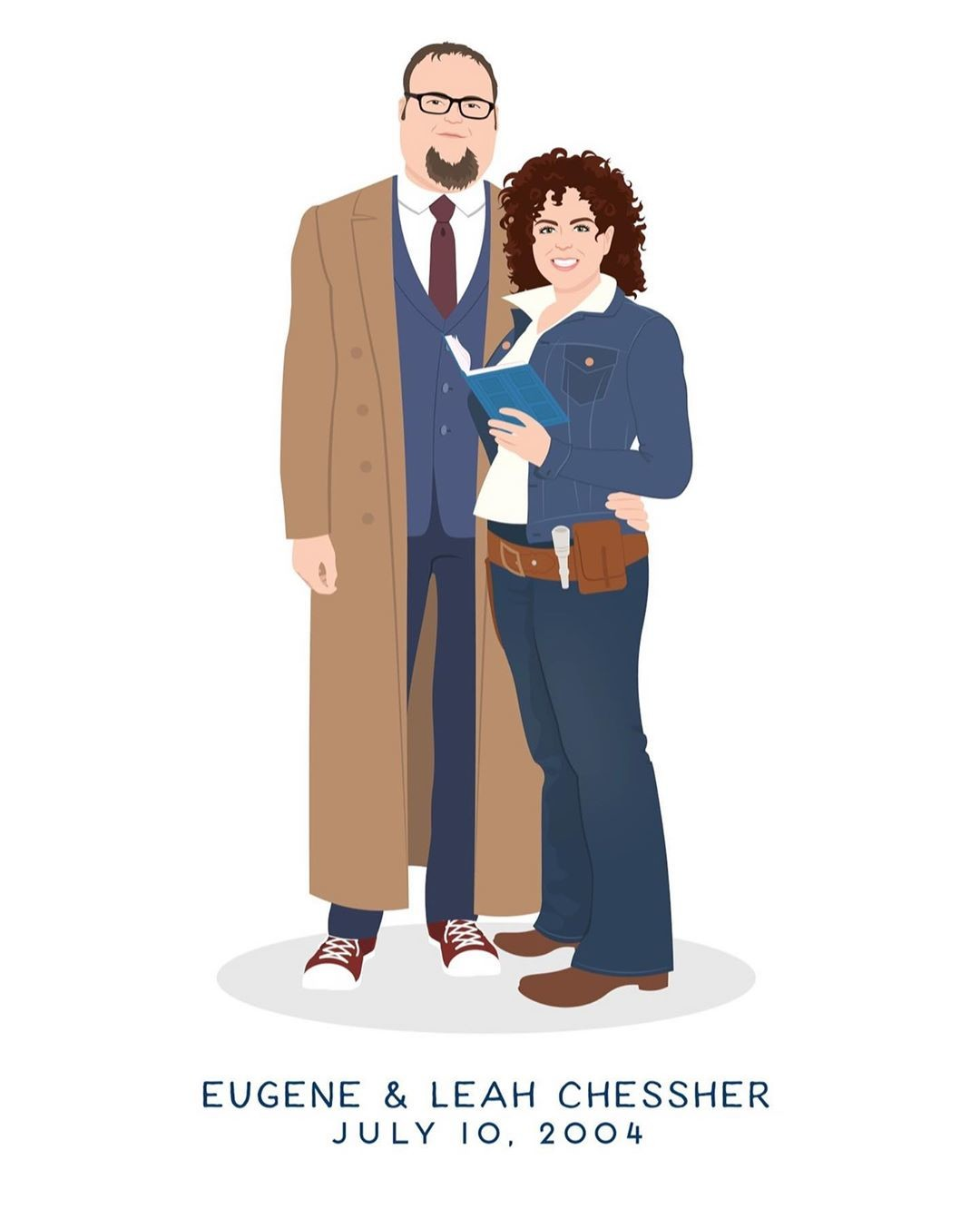 Calling all Whovians! How adorable is this anniversary portrait with